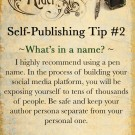 Self-Publishing Tip #2